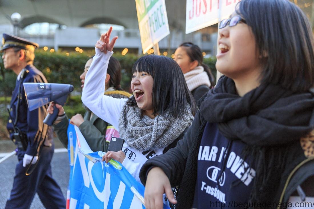 写真で見る高校生表参道デモと高校生達のスピーチ(2015.12.19 T-nsSOWL)