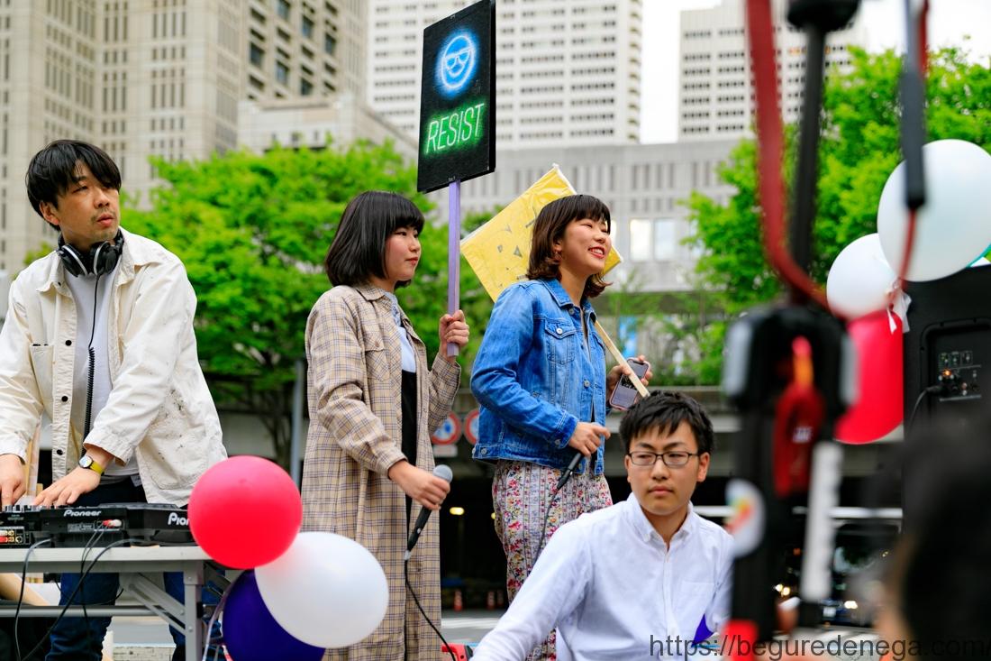 2018.04.06-07 官邸前抗議行動、まともな政治を求める新宿デモを撮影してみました